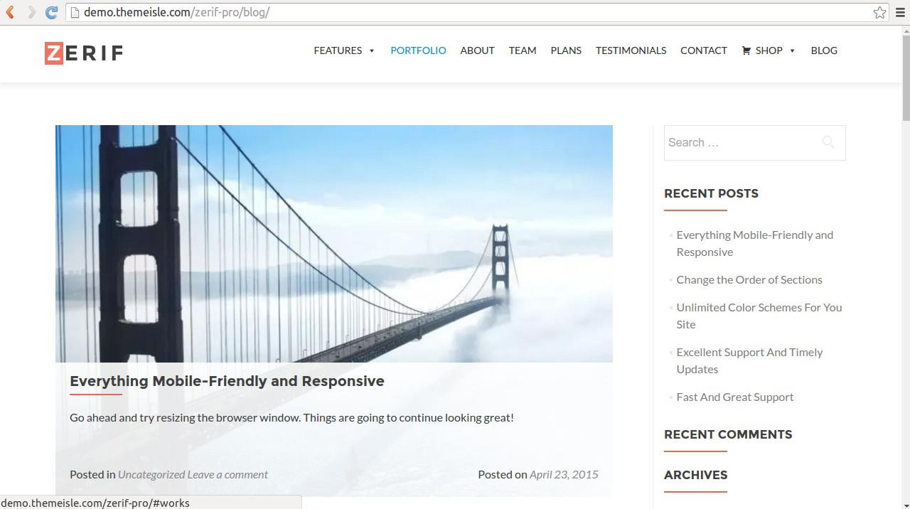 Zerif WordPress Theme
