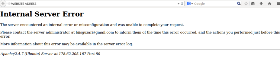 500 Error - your site be gone dude - where are your backups?